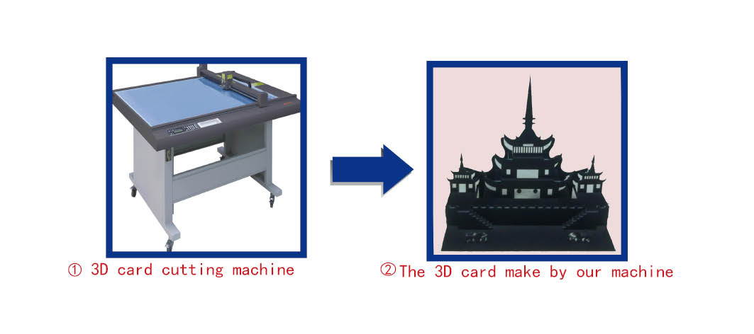 3D card sample maker cutting equipment