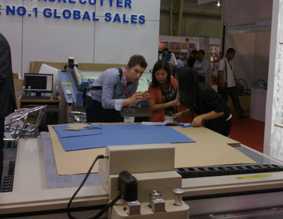 cutting machine on exhibition