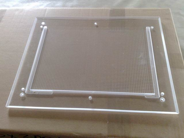 Acrylic light box V cut machine